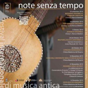 Note senza tempo - Festival internazionale di musica antica @ Sassari - Chiesa di Sant'Antonio